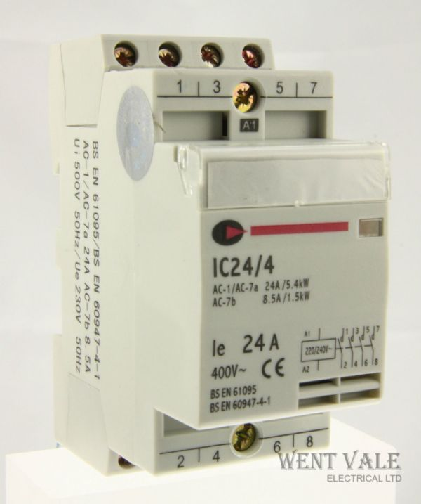 CGD IC24/4 - 24a Four Pole Normally Open Contactor with 230v Coil. New In Box